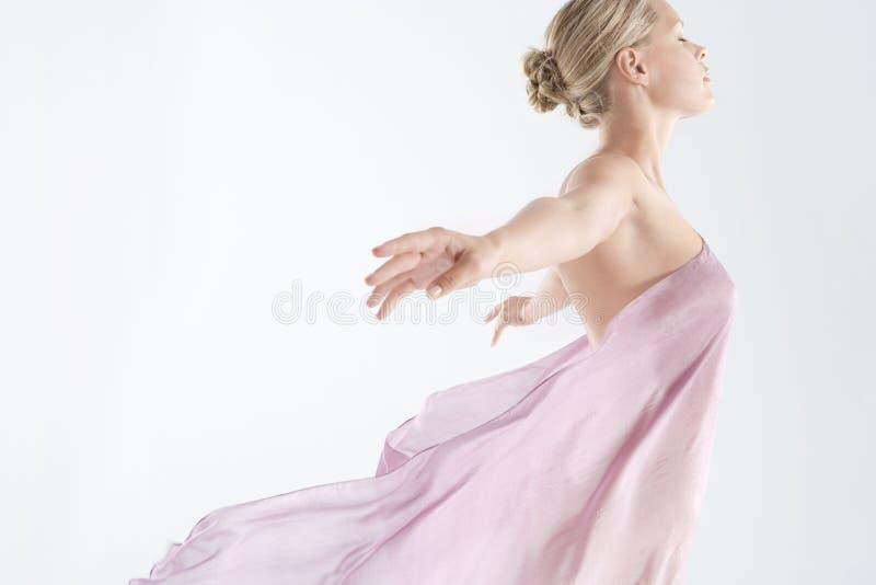 floaty pink för tyg arkivbild