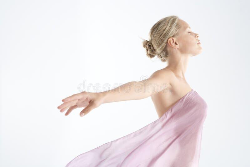 floaty pink för tyg royaltyfria bilder