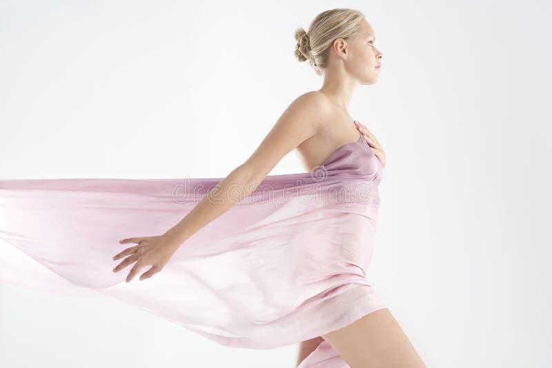 floaty pink för tyg arkivfoto