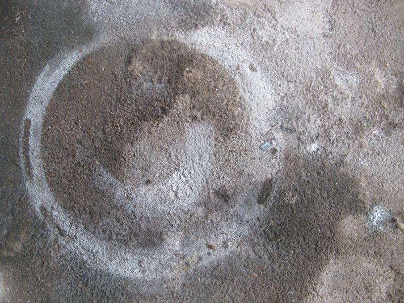 Floc abstrait de peinture sur Gray Cement Background photographie stock