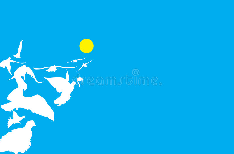 Download The flock stock illustration. Illustration of dove, yellow - 106609