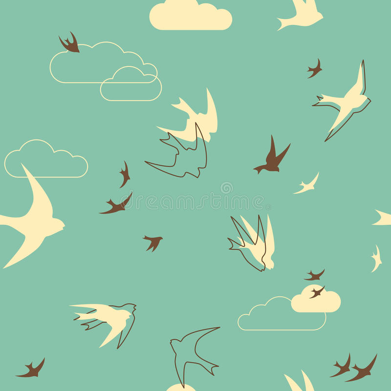 Flock Of Swallows Stock Images
