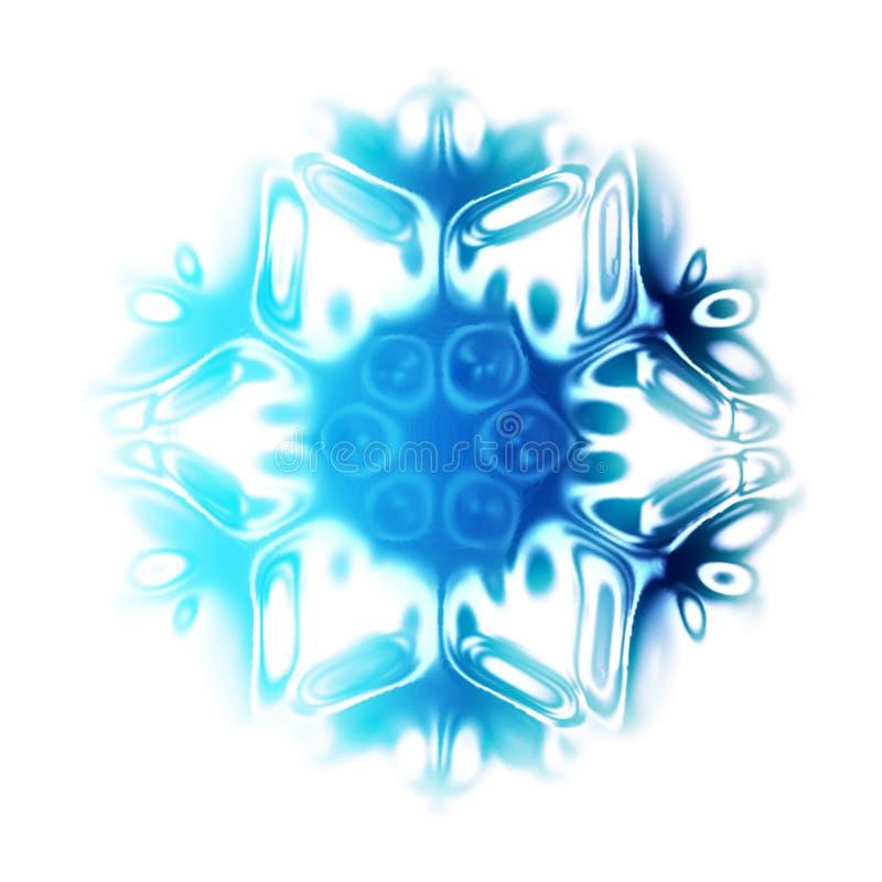 Floco abstrato da neve ilustração stock