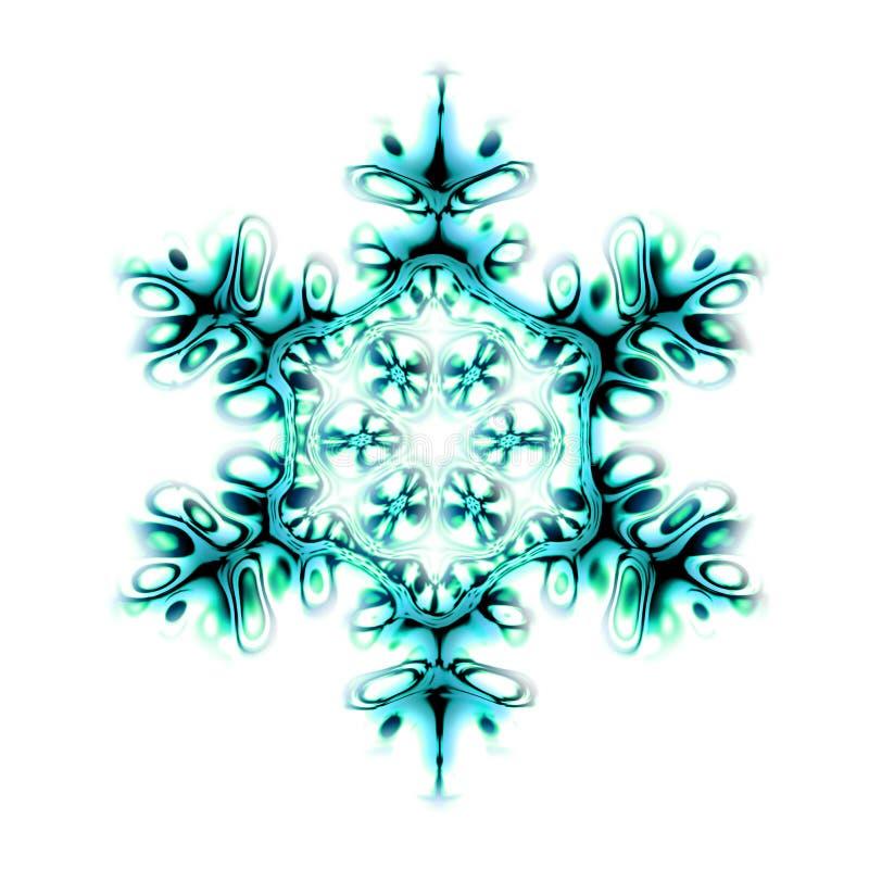 Floco abstrato da neve ilustração royalty free