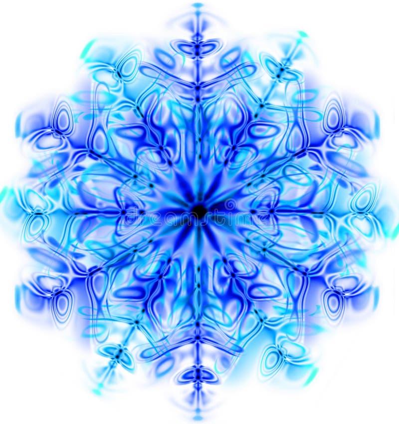Floco da neve isolado ilustração royalty free