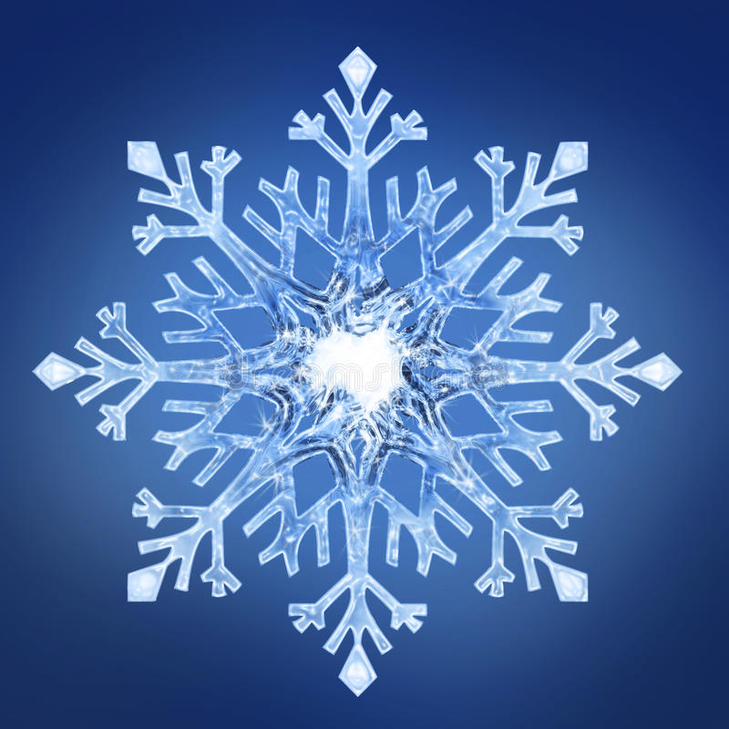 Floco de neve 2 foto de stock royalty free