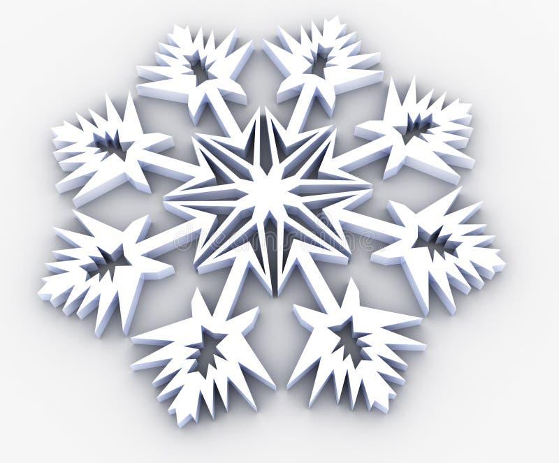 Floco de neve ilustração stock