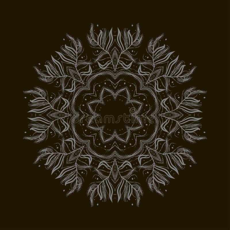 Floco de neve abstrato do inverno Ornamento ilustração stock