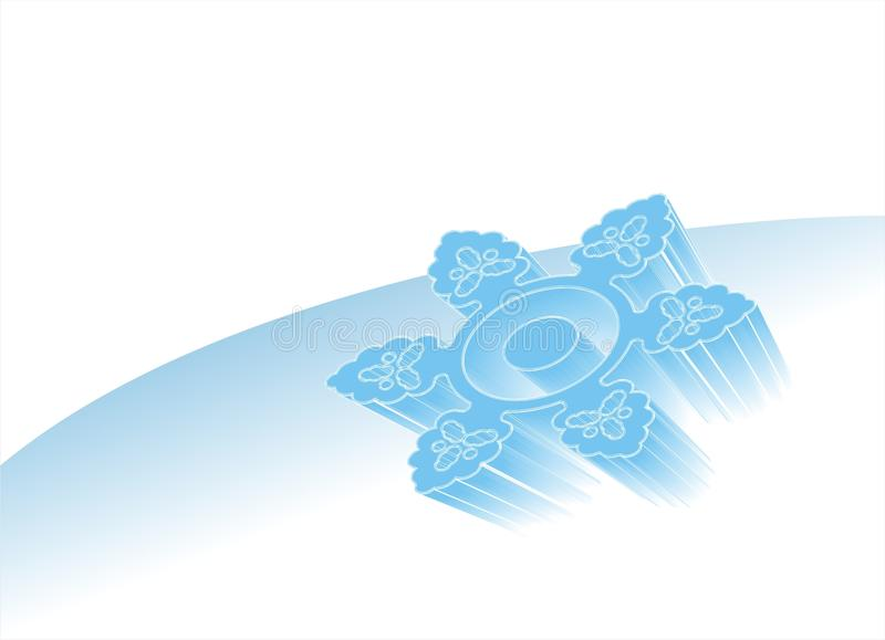 Floco de neve azul fotografia de stock