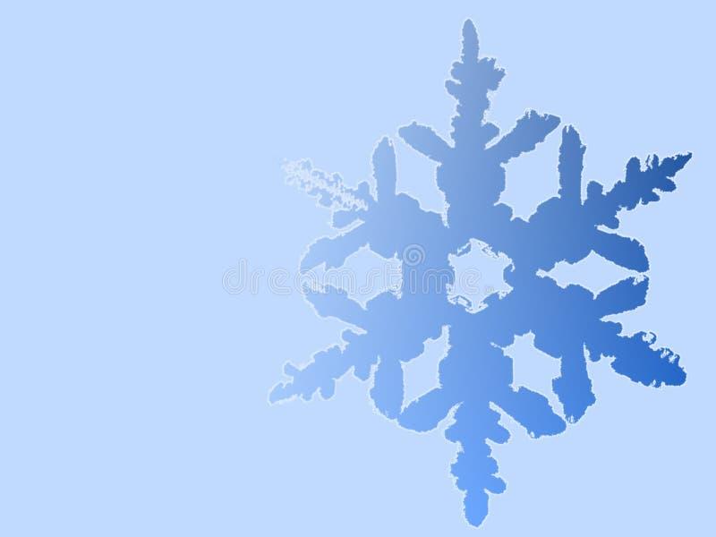 Floco de neve azul ilustrado ilustração do vetor