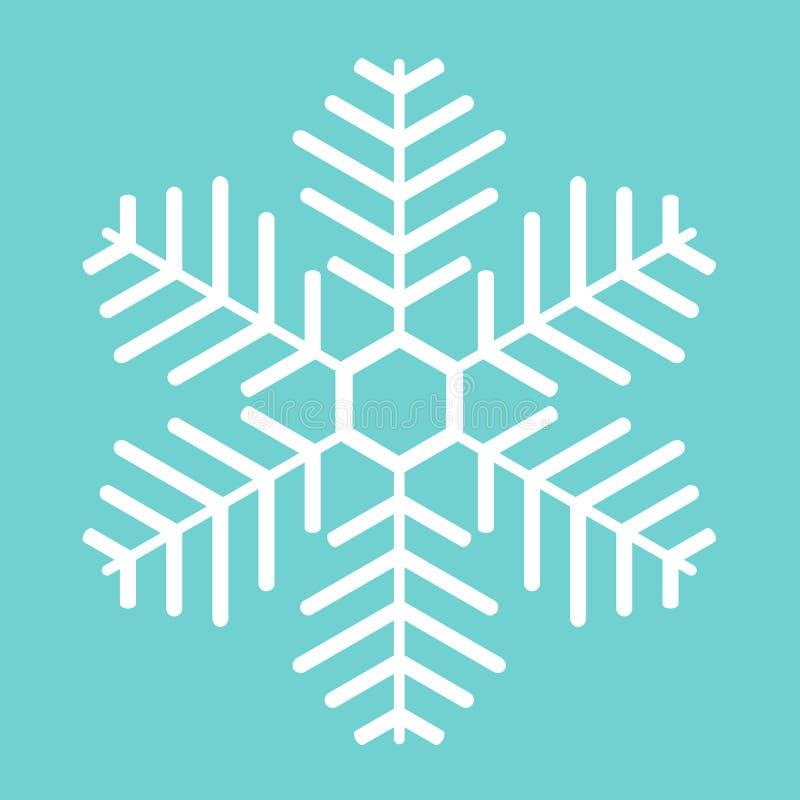 Floco de neve branco ilustração do vetor