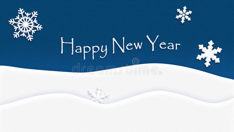 Floco de neve da textura do fundo do ano novo feliz ilustração royalty free