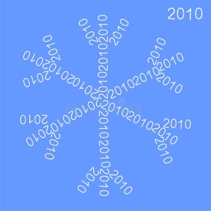 Floco de neve do ano novo imagem de stock royalty free
