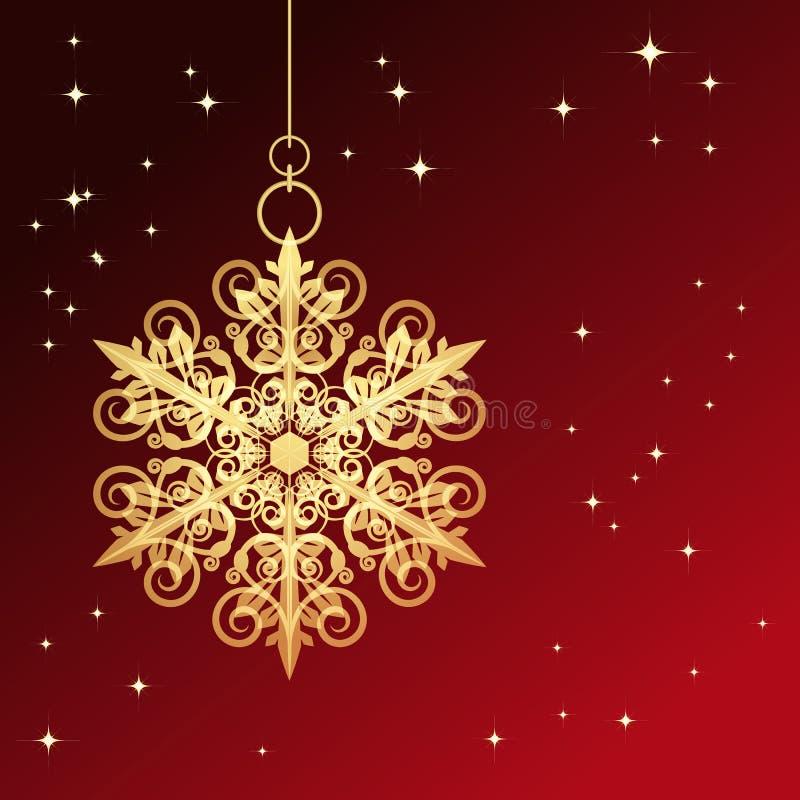 Floco de neve do Natal ilustração stock