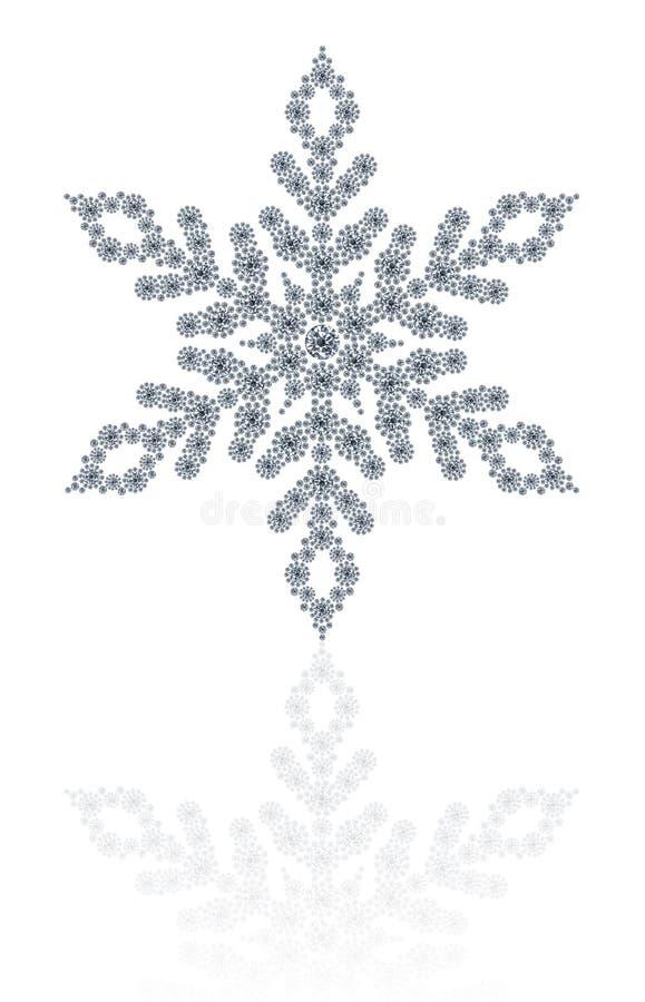 Floco de neve dos diamantes no fundo branco foto de stock royalty free
