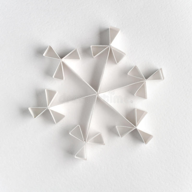 Floco de neve feito do papel foto de stock