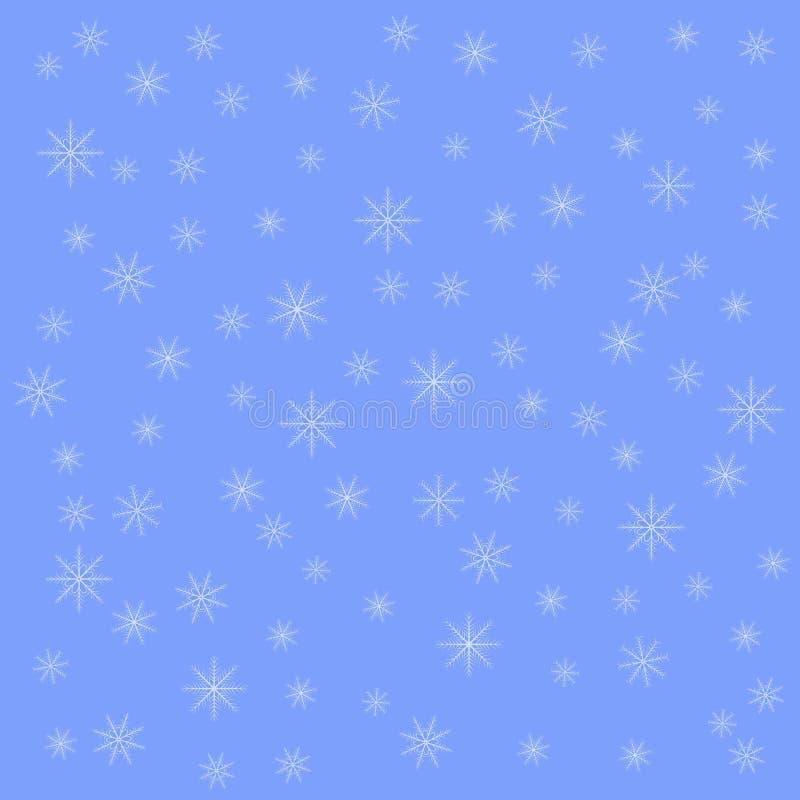 Floco de neve no fundo cinzento do céu do inverno Teste padrão do vetor do Natal ilustração do vetor