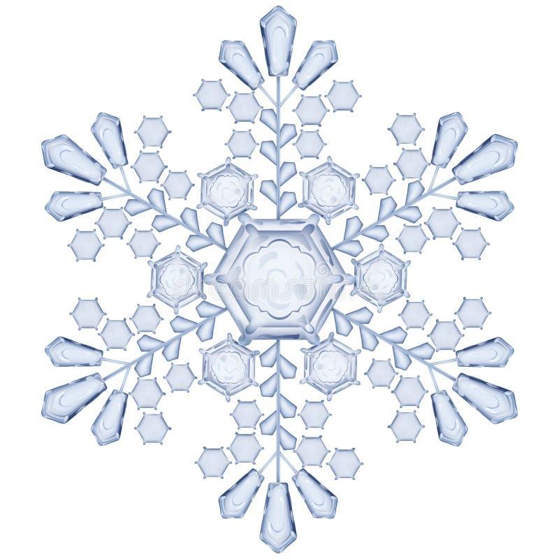Floco de neve transparente Translúcido somente no arquivo do vetor ilustração royalty free