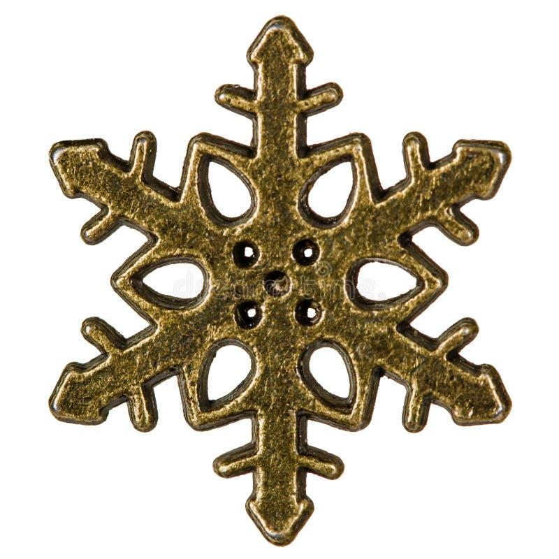 Flocon de neige, élément décoratif, d'isolement sur le fond blanc images stock