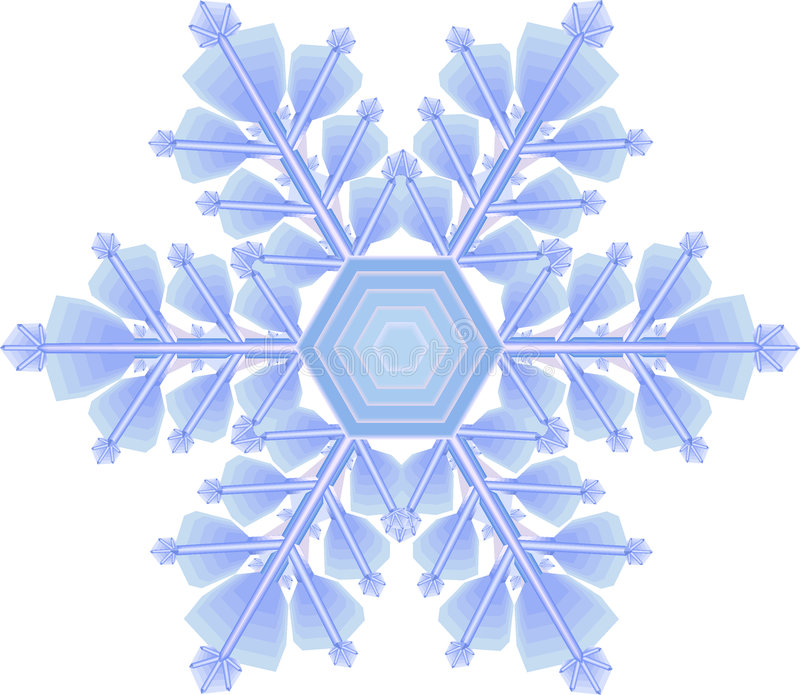 Flocon de neige illustration stock
