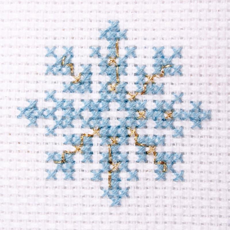 Flocon de neige bleu photo stock