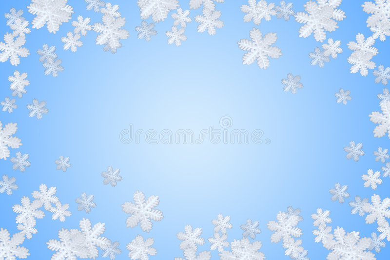 Flocon de neige bleu de l'hiver illustration de vecteur