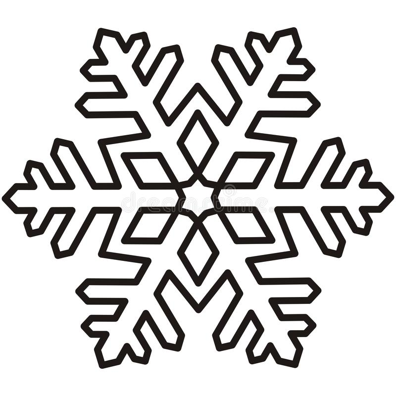 Nouveau Flocon de neige, découpe illustration de vecteur. Illustration du  JZ78