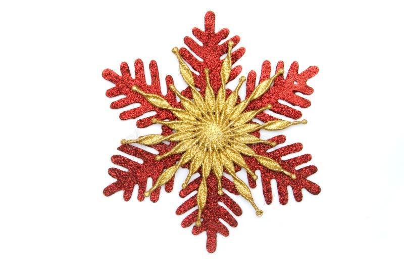 Flocon de neige d'étoile de Noël images libres de droits