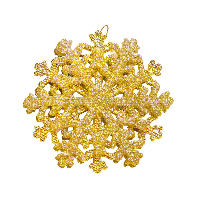 Flocon de neige d'or image stock