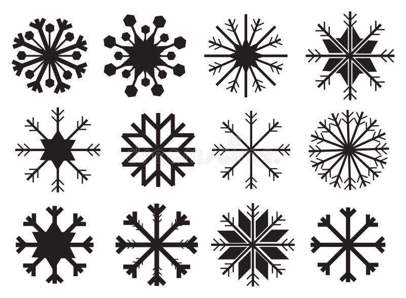 Flocon de neige dans la conception noire et blanche de vecteur illustration de vecteur