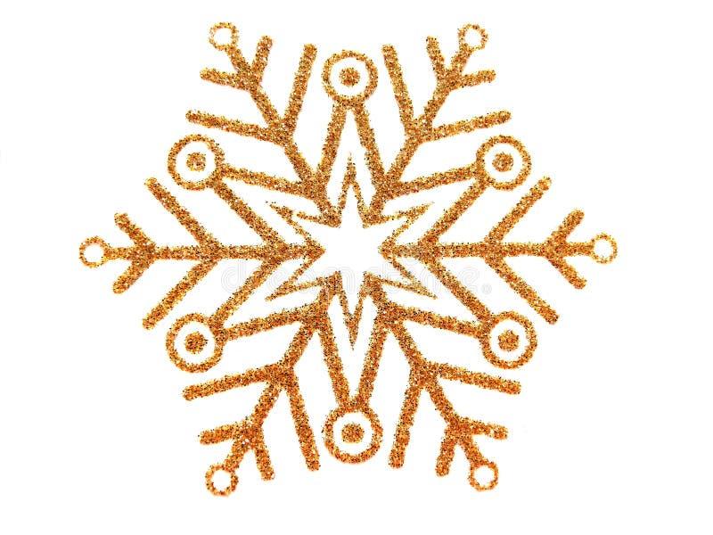 Flocon de neige de brocard d'or illustration libre de droits