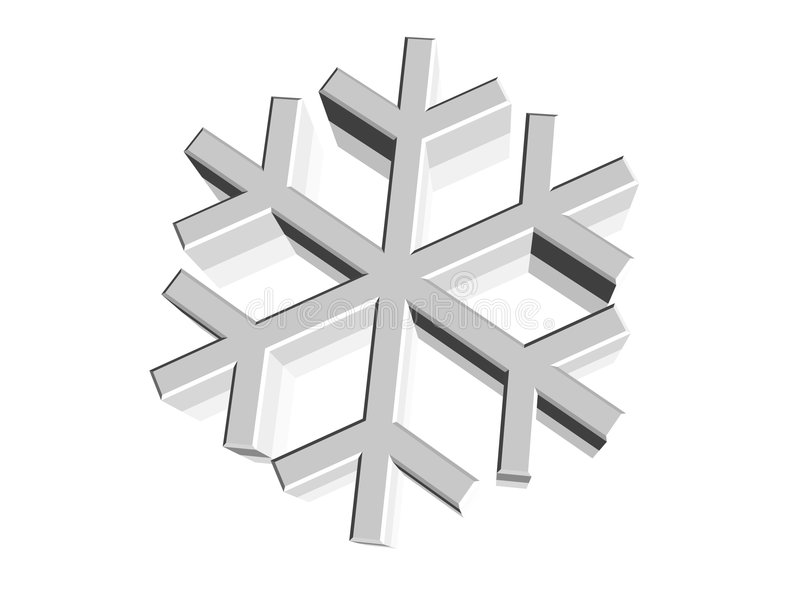 flocon de neige de neige de l'éclaille 3d illustration de vecteur