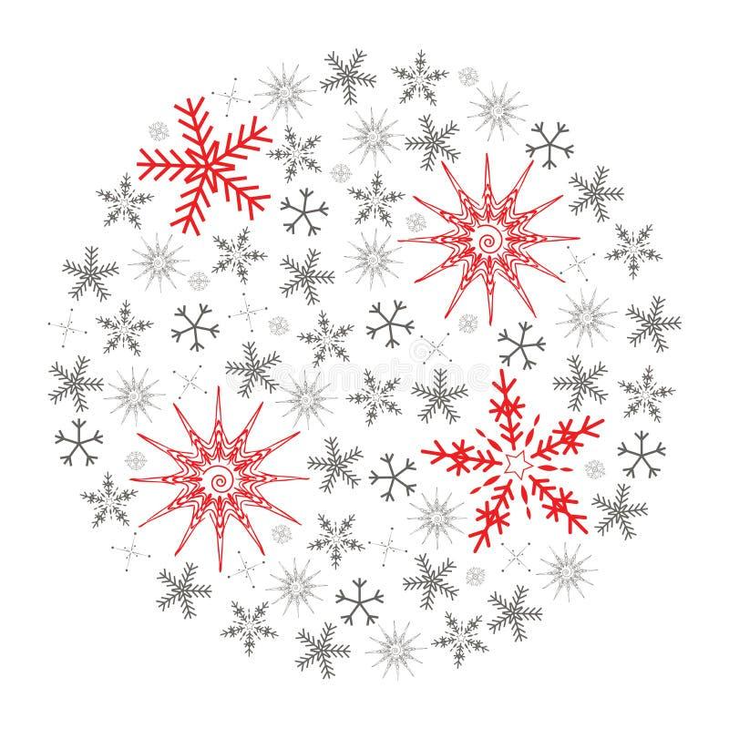 Flocon de neige de Noël illustration libre de droits