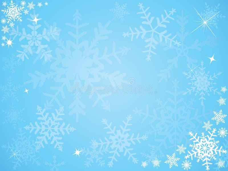 flocon de neige de Noël de fond illustration de vecteur