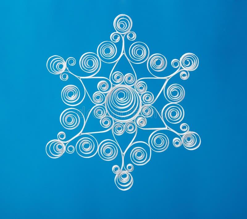 Flocon de neige de Noël de papier fabriqué à la main image stock