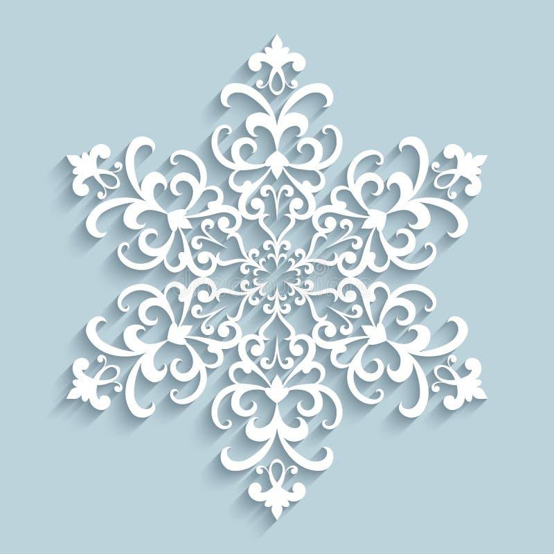 Flocon de neige de papier de dentelle illustration stock