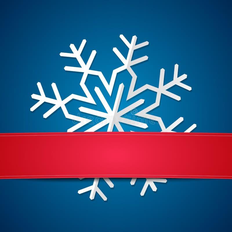 Flocon de neige de papier sur le fond coloré illustration stock