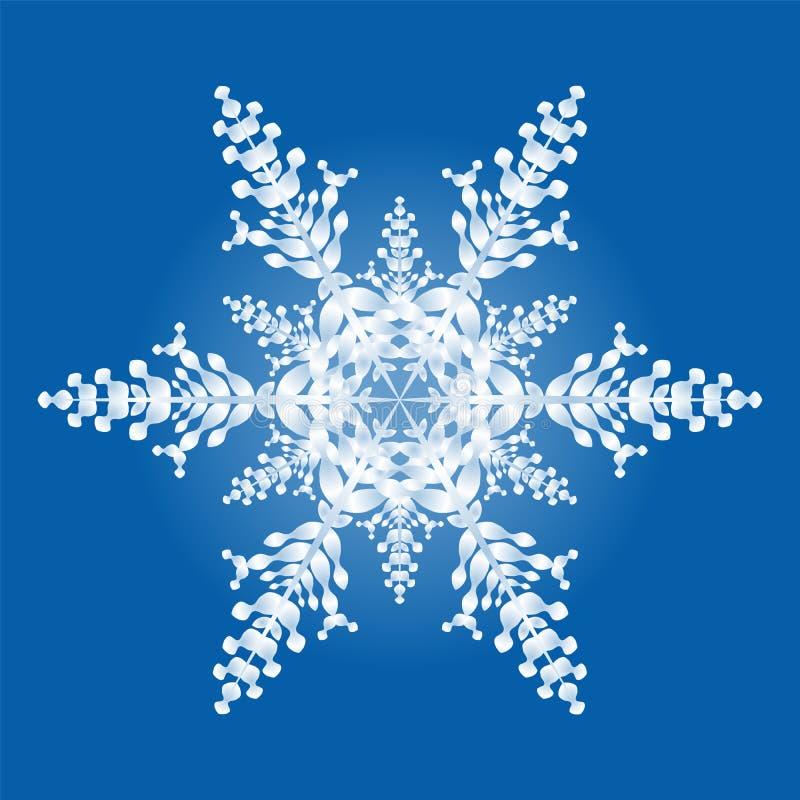 flocon de neige du bleu un de fond illustration de vecteur