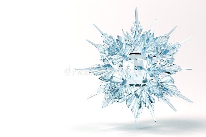 Flocon de neige en cristal illustration de vecteur