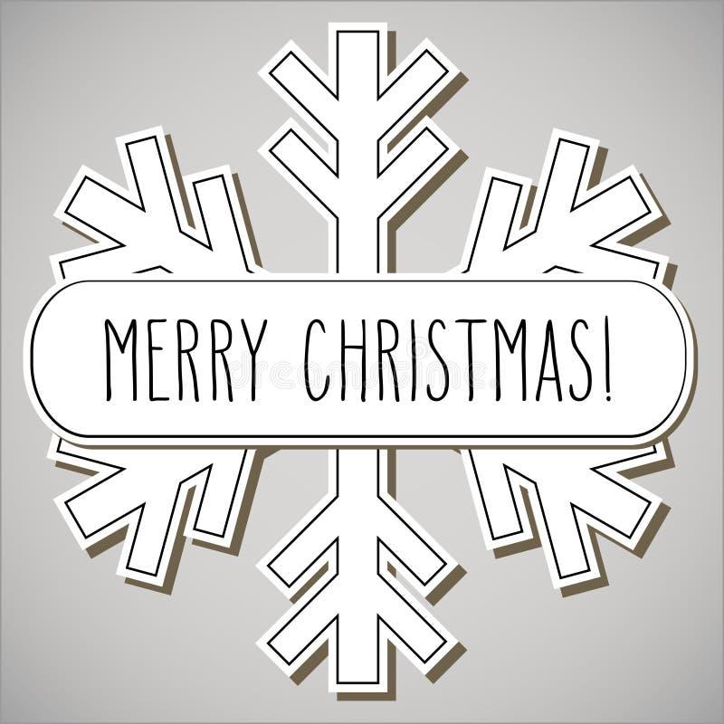 Flocon de neige et Joyeux Noël illustration de vecteur