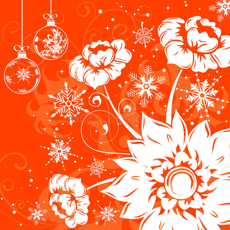 flocon de neige floral de fond illustration libre de droits
