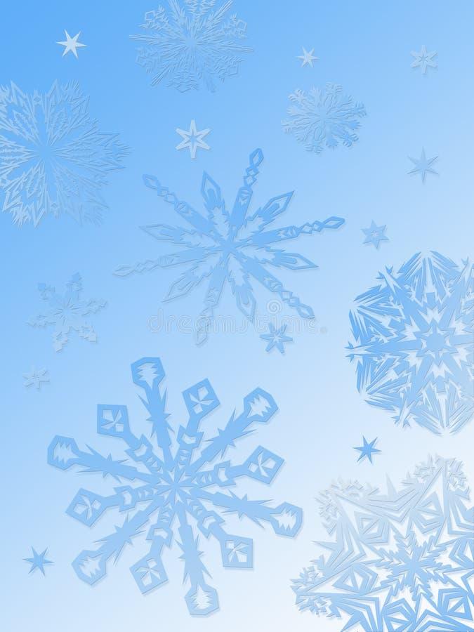 Flocon de neige fond-bleu illustration libre de droits