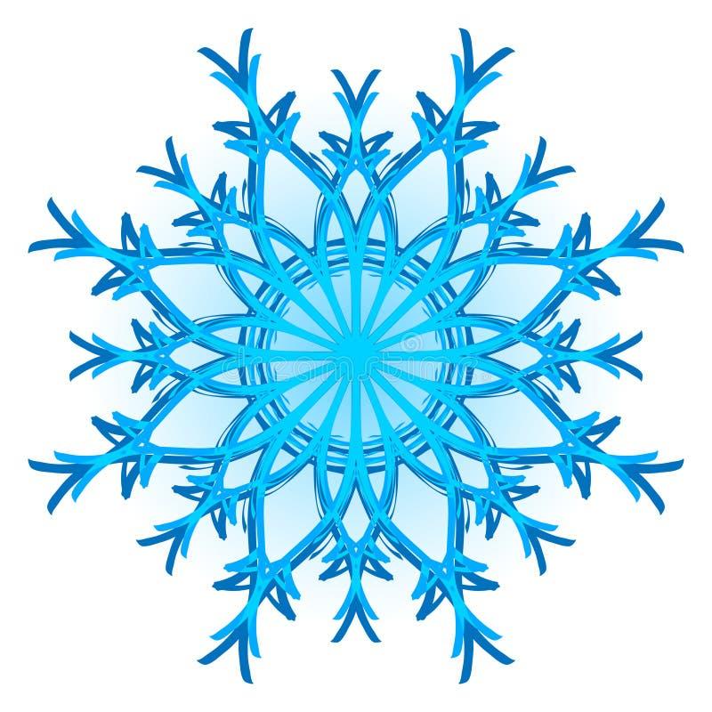 Flocon de neige initial illustration libre de droits