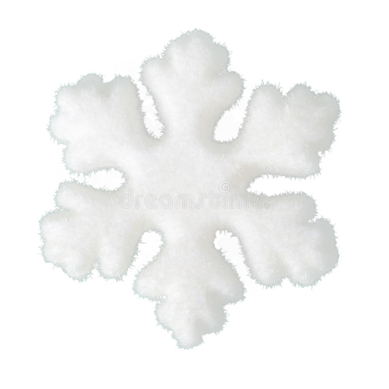Flocon de neige mou comme neige d'isolement sur le fond blanc photos stock