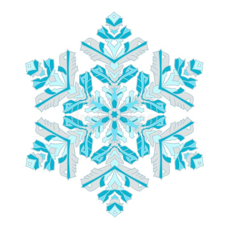 Flocon de neige naturel de couleur de griffonnages tir s par la main style de mandala de - Gabarit flocon de neige a decouper ...