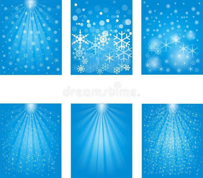 Flocon de neige, neige, faisceau lumineux illustration libre de droits