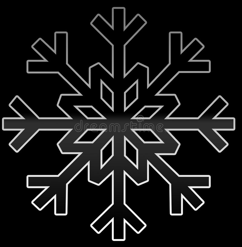 Flocon de neige noir et gris illustration libre de droits