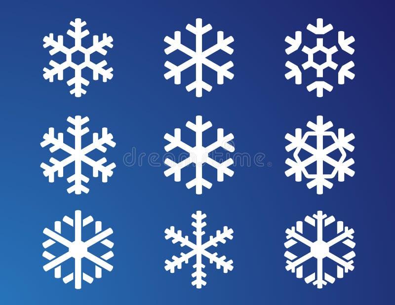 Flocon de neige sur le fond bleu illustration de vecteur