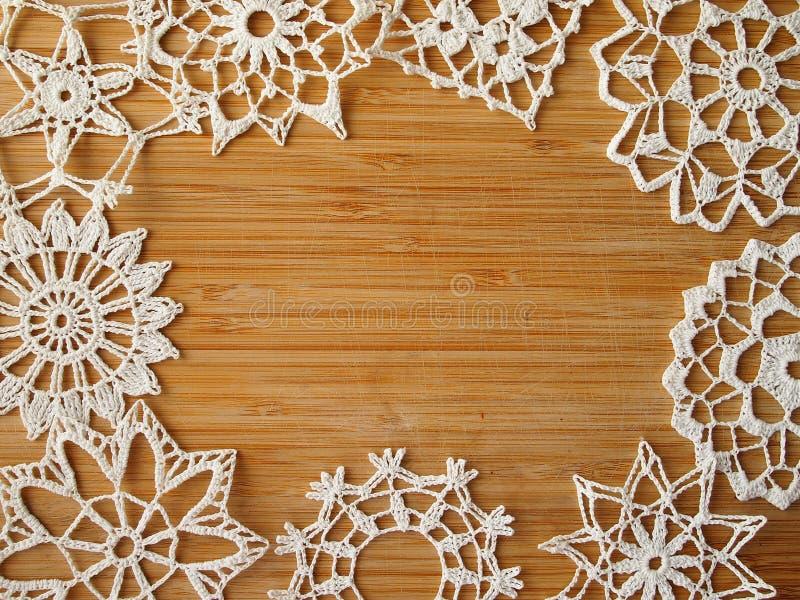 Flocons à crochet de neige photo stock