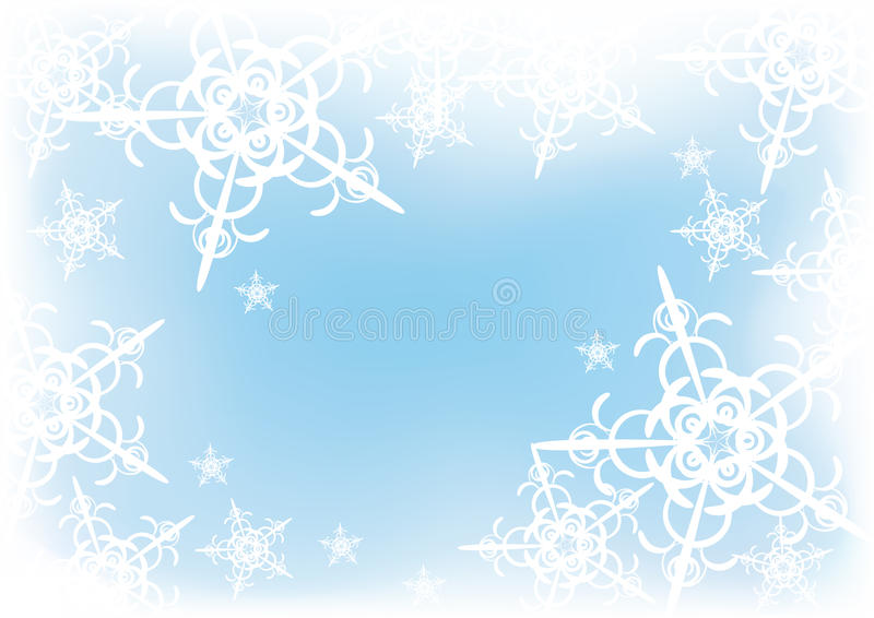 Flocons de neige illustration libre de droits